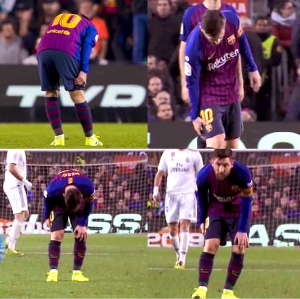 Messi blessure