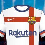 Wit uittenue FC Barcelona