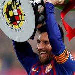 Kampioen Messi FC Barcelona