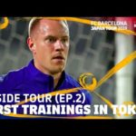 FC barcelona training Japan