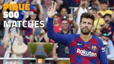 Pique speelt tegen Real Betis mogelijk zijn 500ste wedstrijd voor FC Barcelona