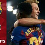 FC Barcelona Valencia first goal De Jong