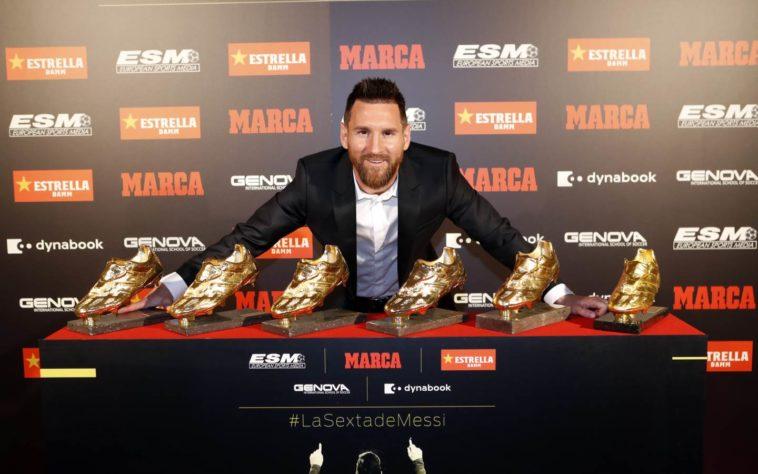 Lionel Messi zesde Gouden Schoen