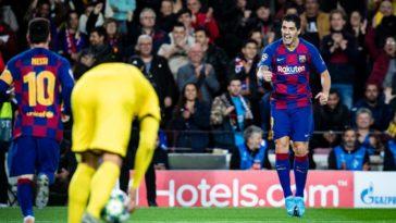 Lionel Messi en Luis Suarez tegen Borussia Dortmund