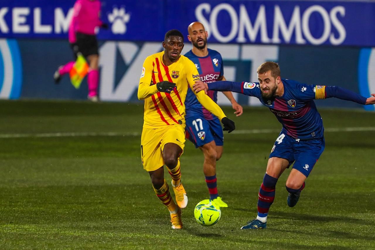 Ousmane Dembélé tegen Huesca