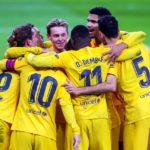 FC Barcelona en De Jong vieren een treffer tegen Athletic Club