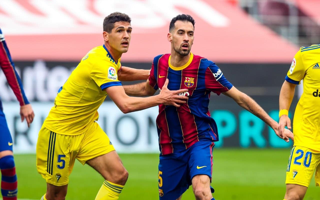 Sergio Busquets vs Cádiz