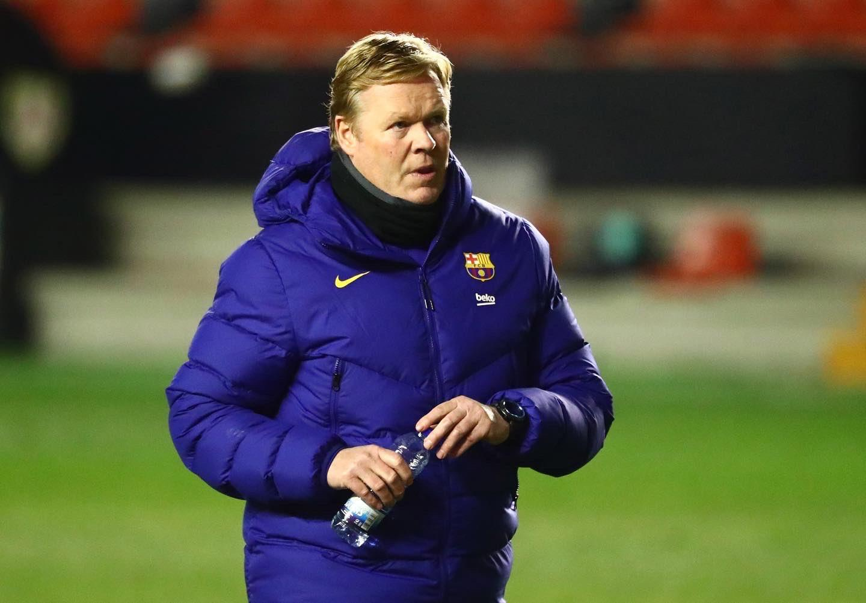 Ronald Koeman als trainer van FC Barcelona