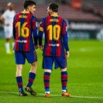Pedri en Messi