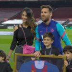Antonela Roccuzzo en Lionel Messi