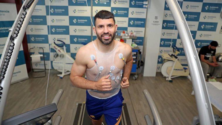 Sergio Agüero ondergaat zijn medische keuring bij FC Barcelona